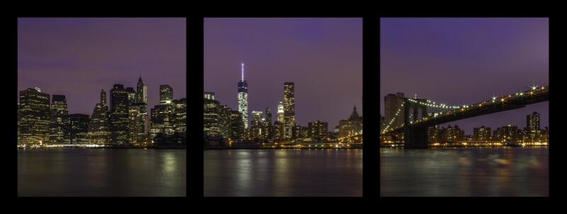 JR Wheatley - Manhattan Skyline from Brooklyn Bridge Park - Triptych