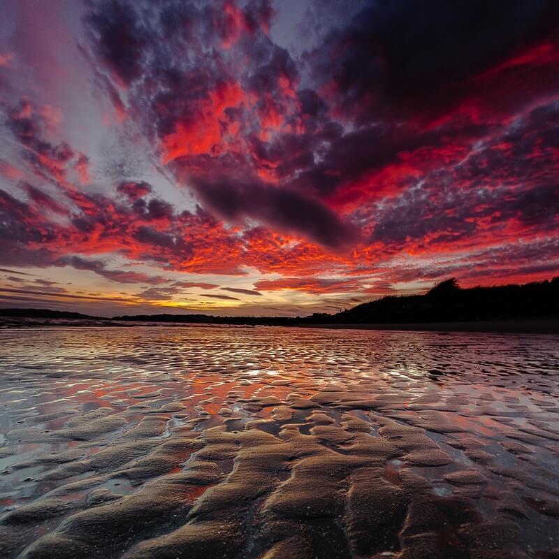 Monifieth beach sunset