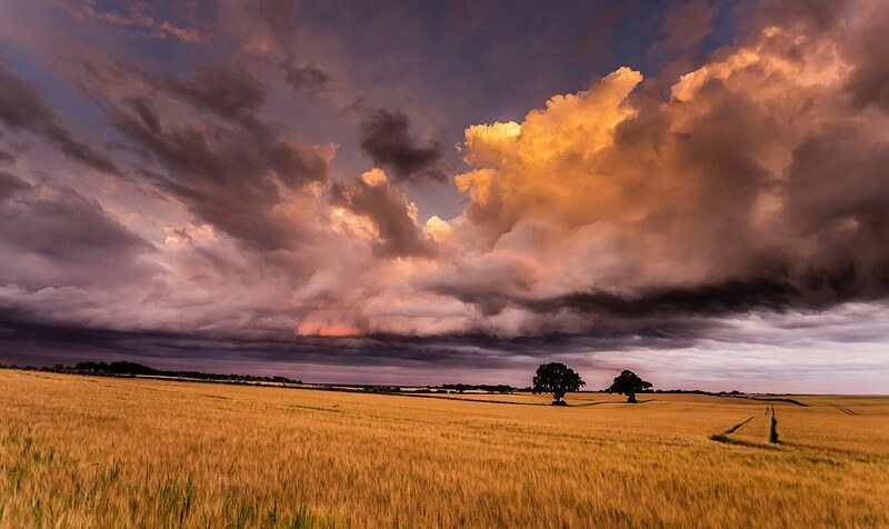 cloudy sky scotland