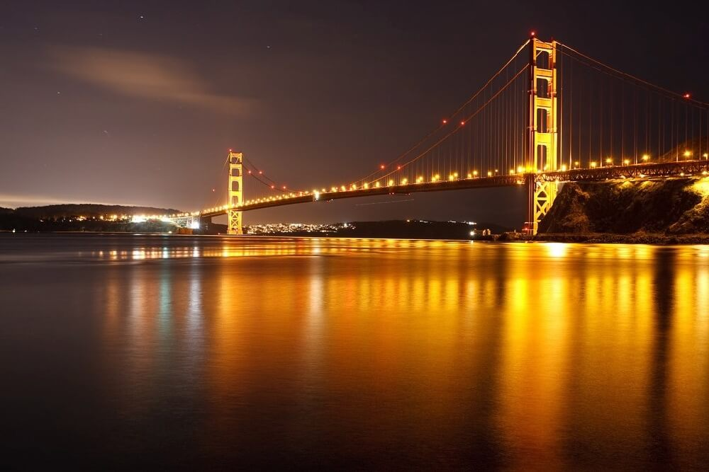 verygreen - Golden Gate Bridge at night