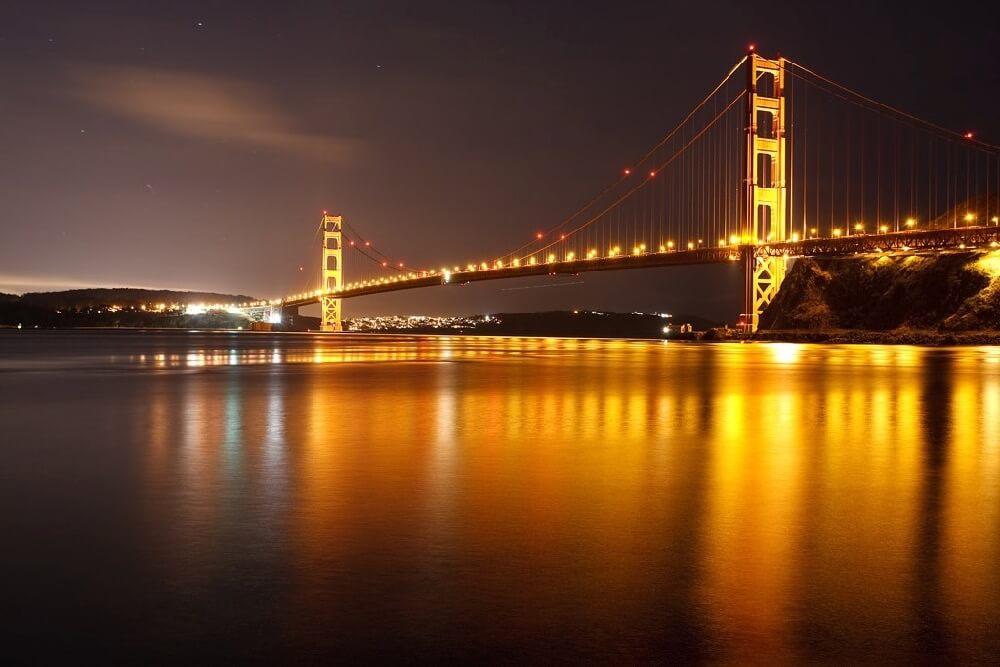 verygreen - Golden Gate Bridge at night