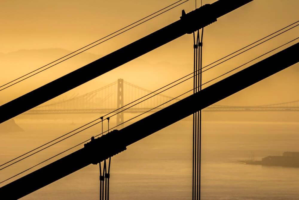 Andrew Moore - Bay Bridge looking through Golden Gate
