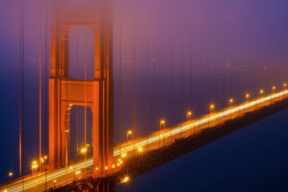 Nan Palmero - Golden Gate Bridge at Night