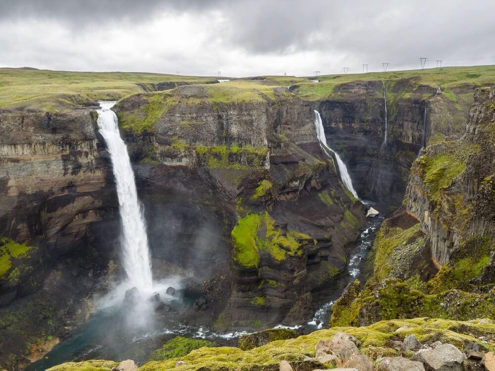 James Petts - Double waterfall (Haifoss, Iceland)