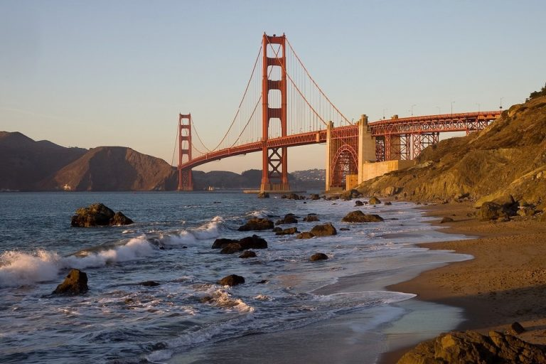 Jim Trodel - Golden Gate Bridge from Baker Beach, San Francisco, California