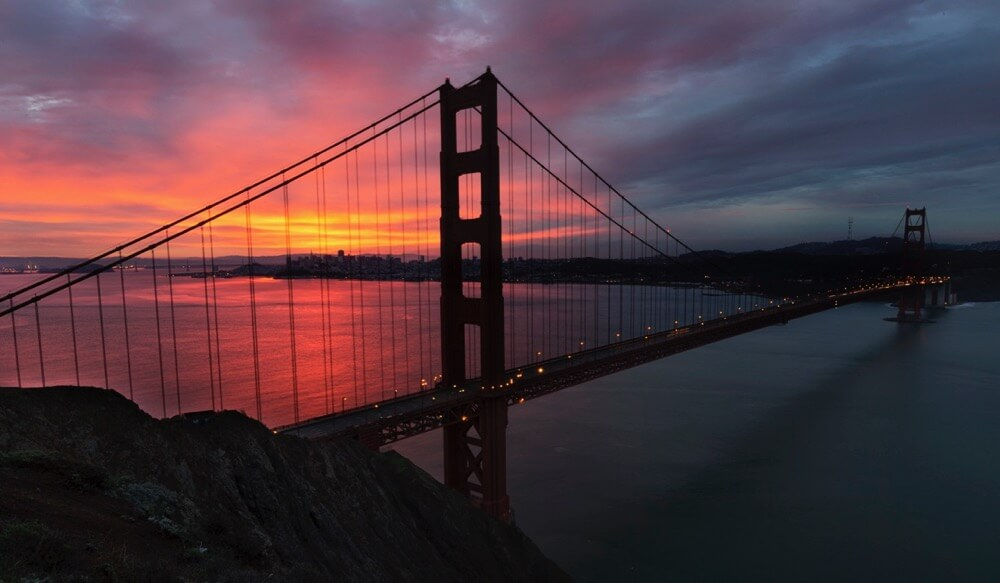 Rex Boggs - Golden Gate Bridge at Sunrise
