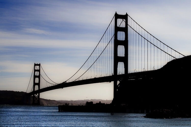 Debbie - Golden Gate Bridge in silhouette