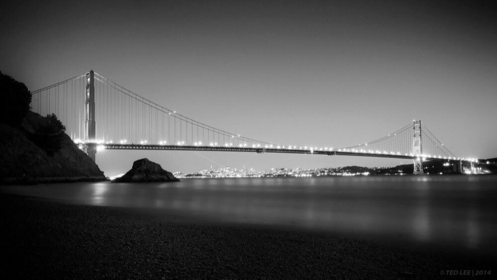 Ted - golden gate bridge b&w