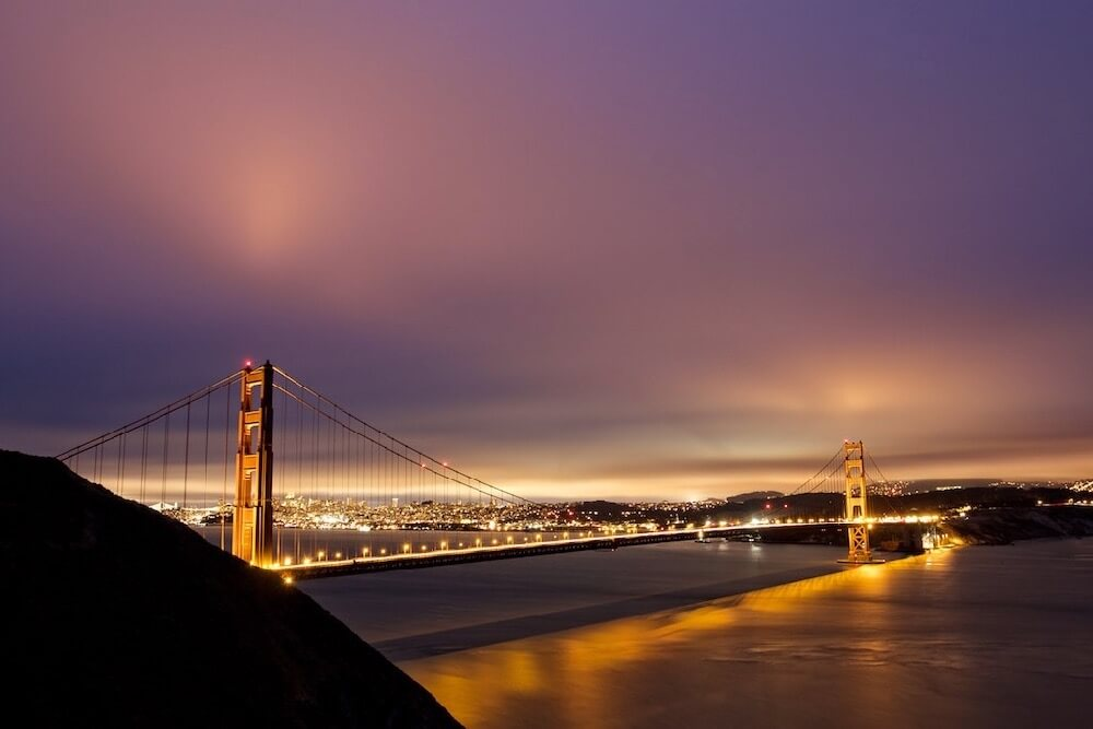 ilirjan rrumbullaku - Golden Gate Bridge After Dark