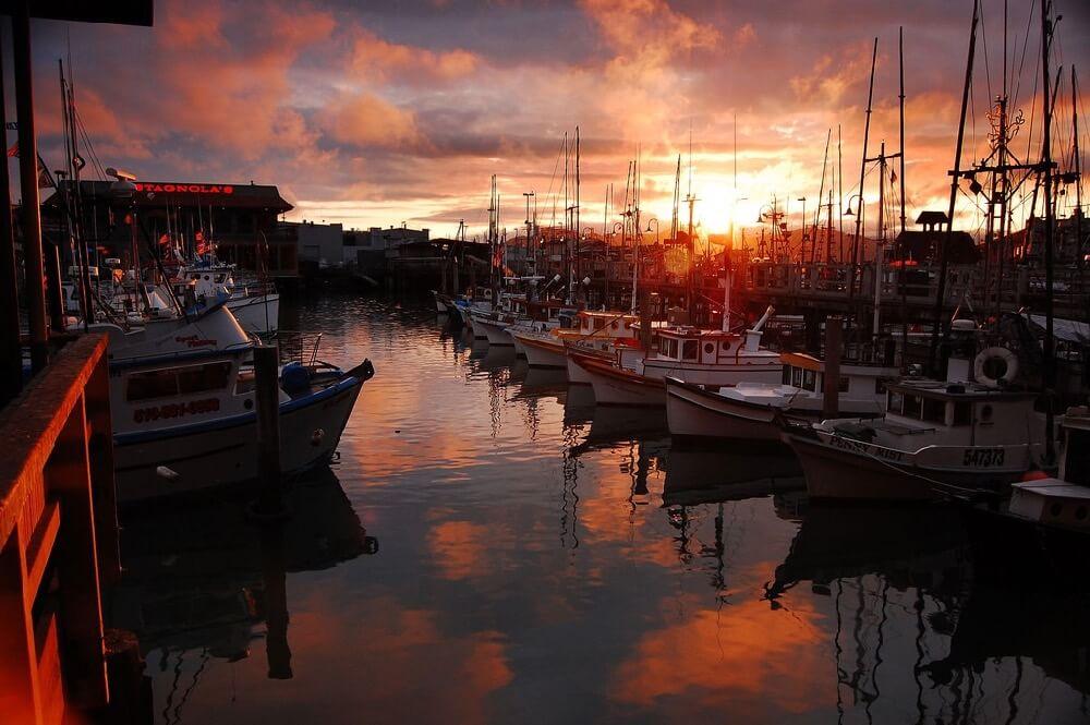 Vincent Lock - sun setting at the fisherman's wharf