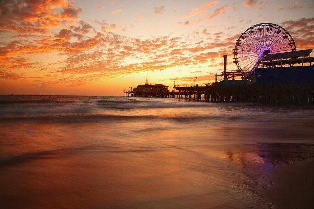 Pacheco - Santa Monica Pier, Ca - at Sunset