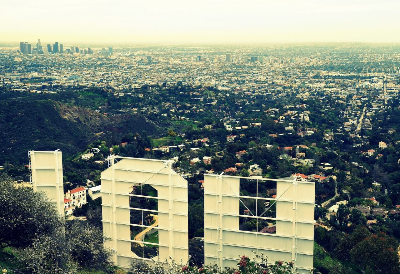 James Gubera - Downtown Los Angeles from behind the Hollywood Sign
