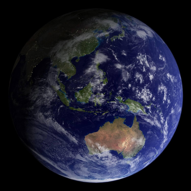 Earth - 2002 Blue Marble - Sydney, Australia