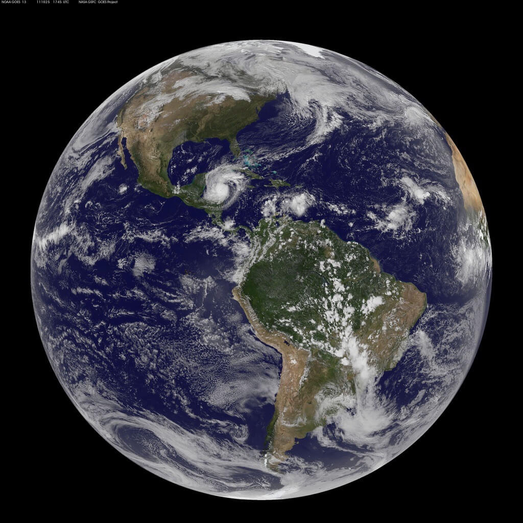 GOES-13 Gets a Full Disk Look at Weather in the Americas