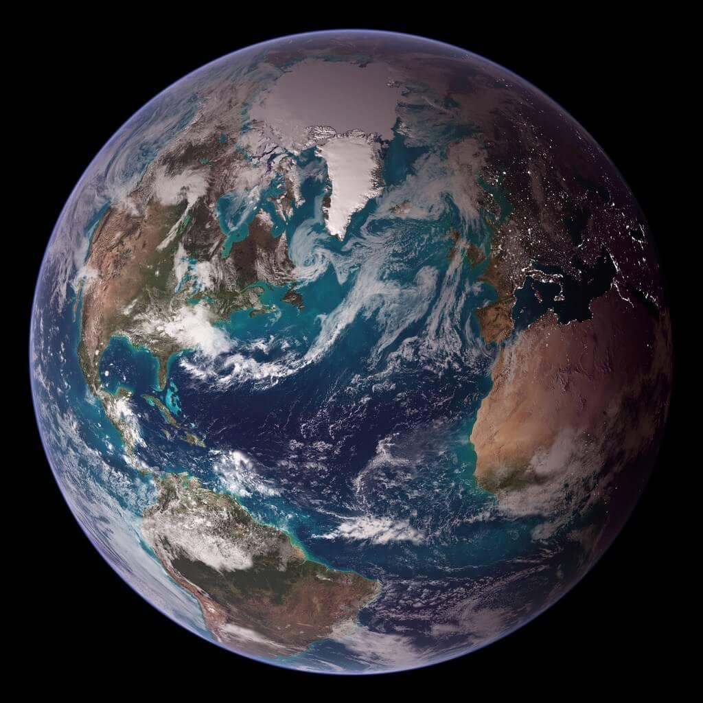 Earth - NASA Blue Marble 2007 West