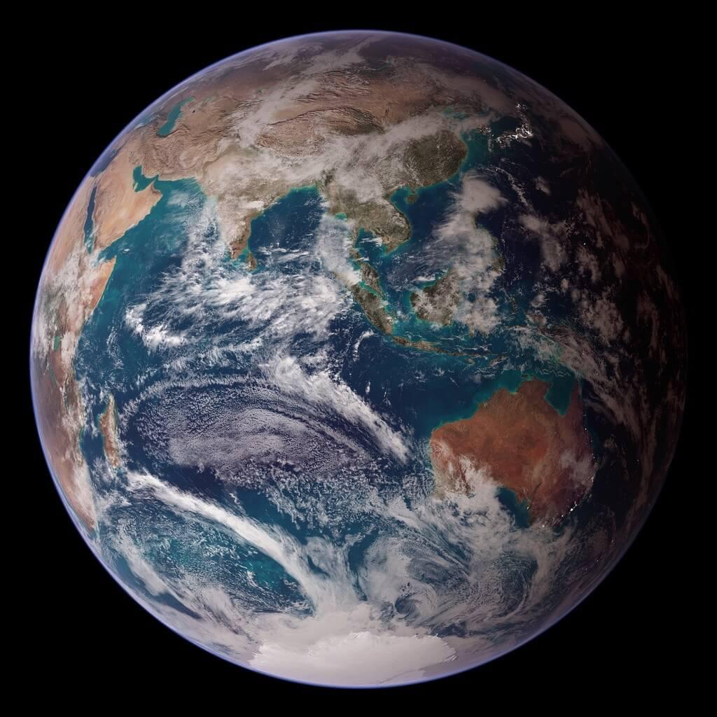 Earth - NASA Blue Marble 2007 East
