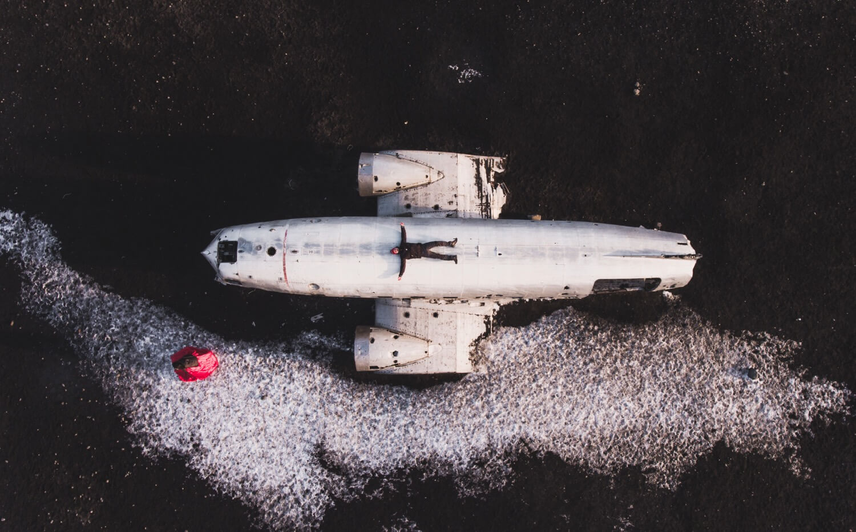Zane Jēkabsone - Sólheimasandur airplane wreckage in Iceland