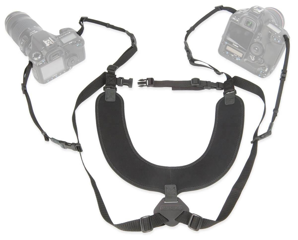 op/tech dual camera harness