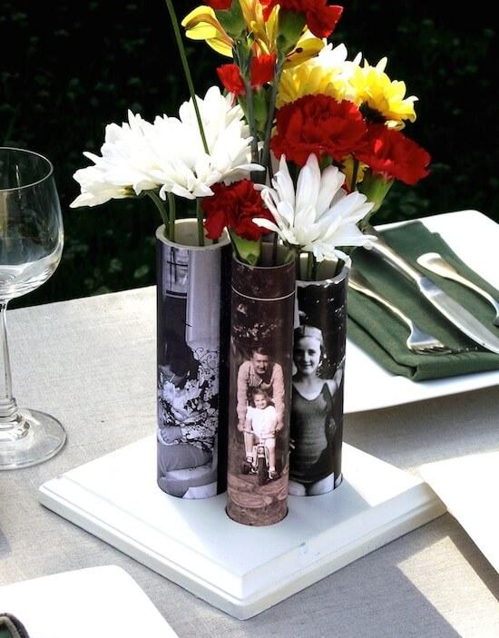 pvc pipe photo vase