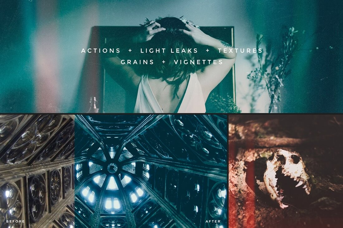 Creative Photoshop Actions, Light Leaks, and Textures by Forefathers 1