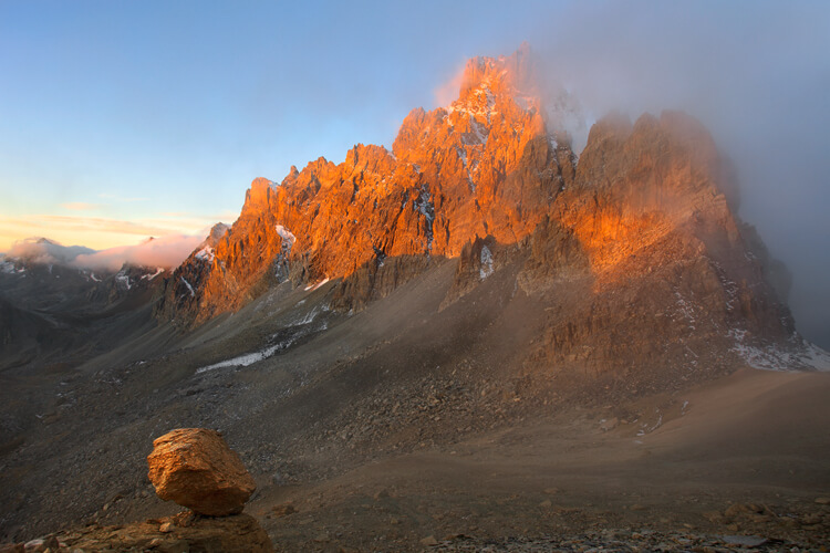Brec de Chambeyron at Sunrise