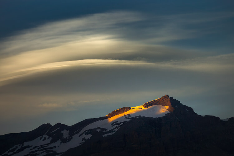 Lenticular Cloud Above Furggen