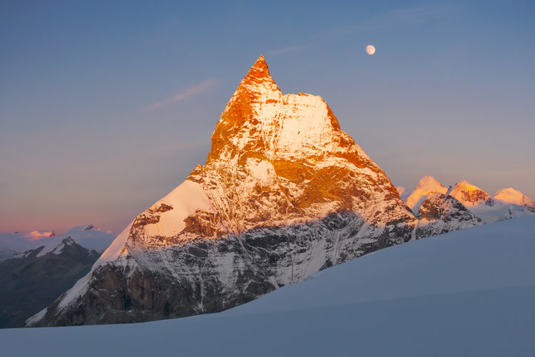 Matterhorn West Face at Sunset
