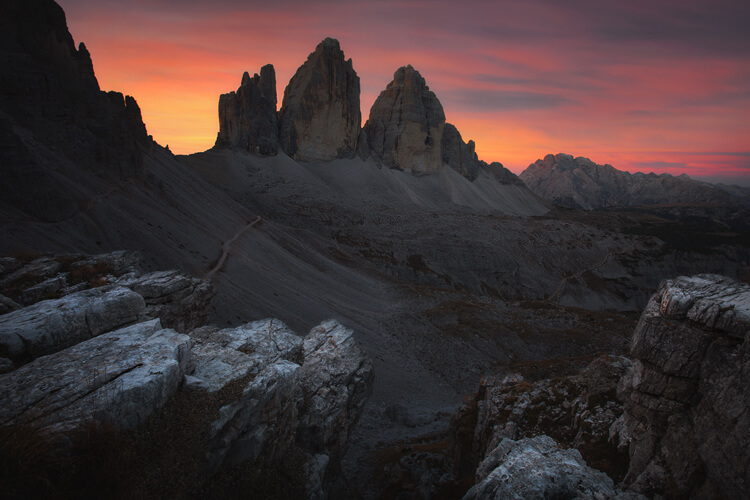 Tre Cime di Lavaredo alps photography