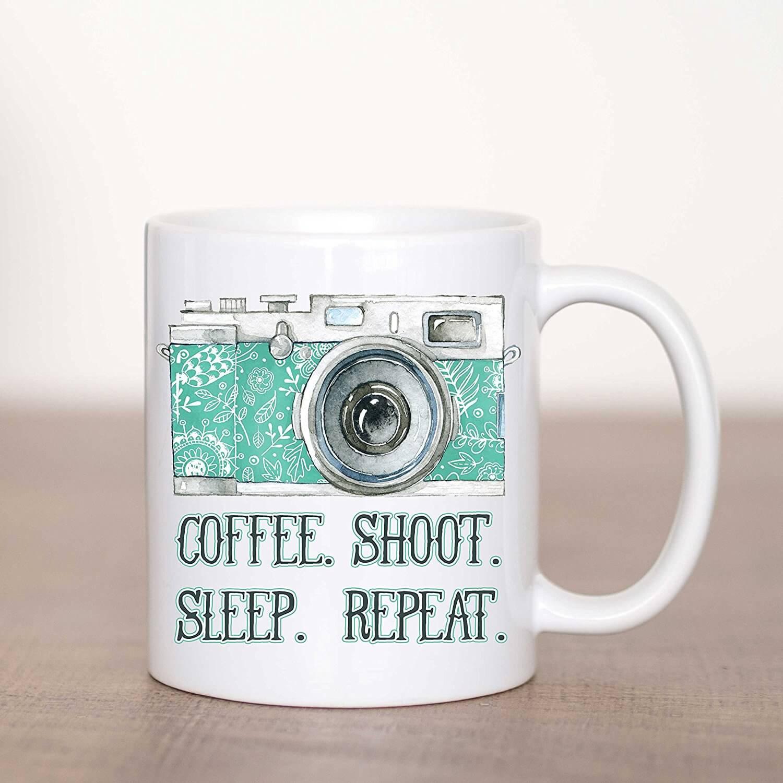 coffee shoot sleep repeat