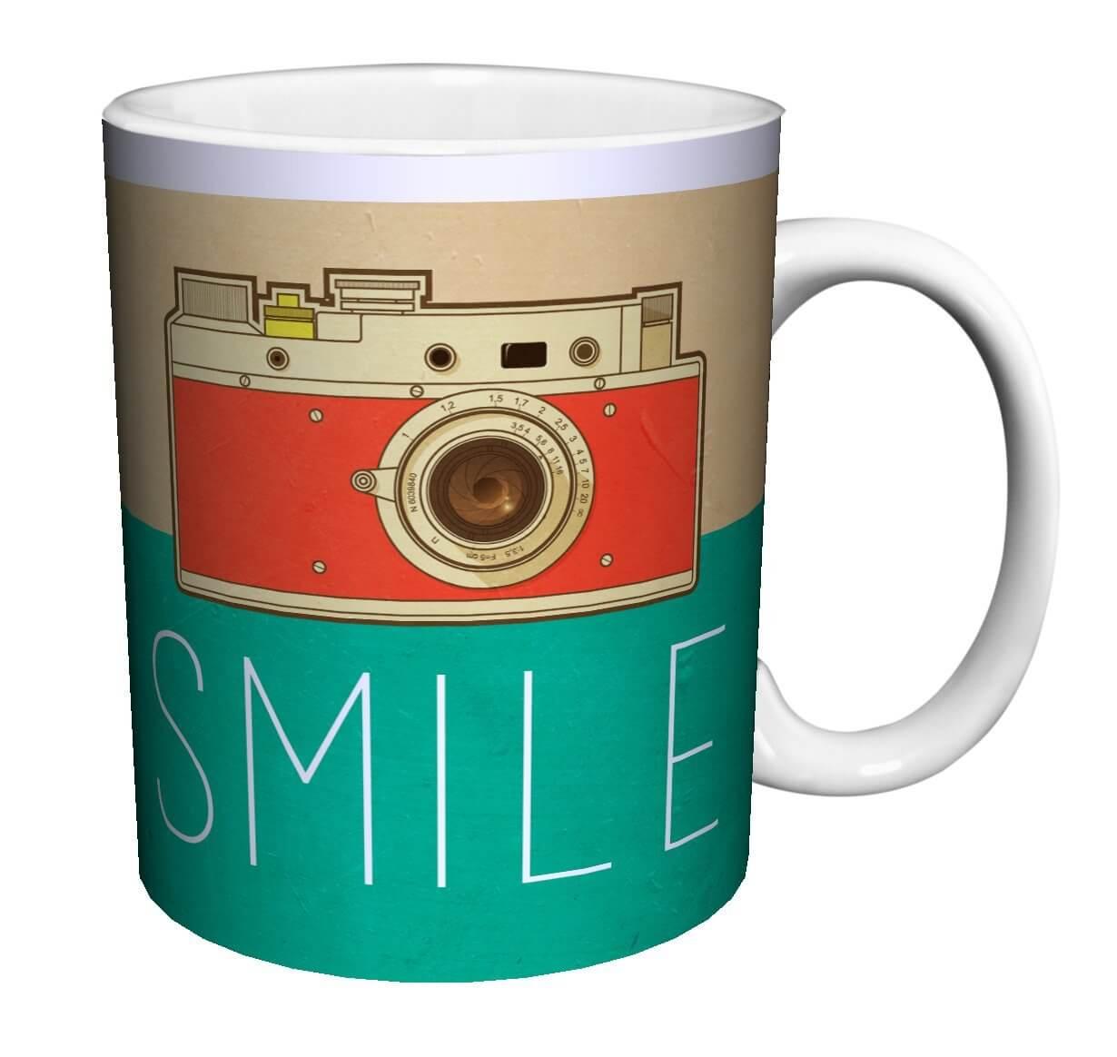 smile camera photography mug