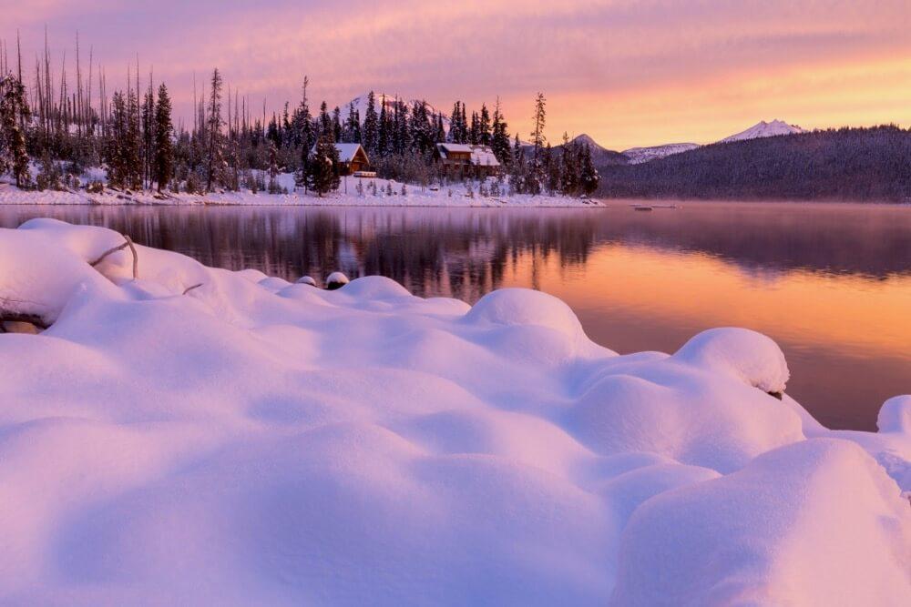 Elk Lake Cabin Sunrise
