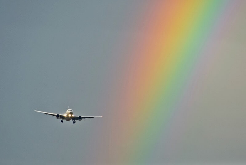 Lidija Bondarenko - Airplane and Rainbow