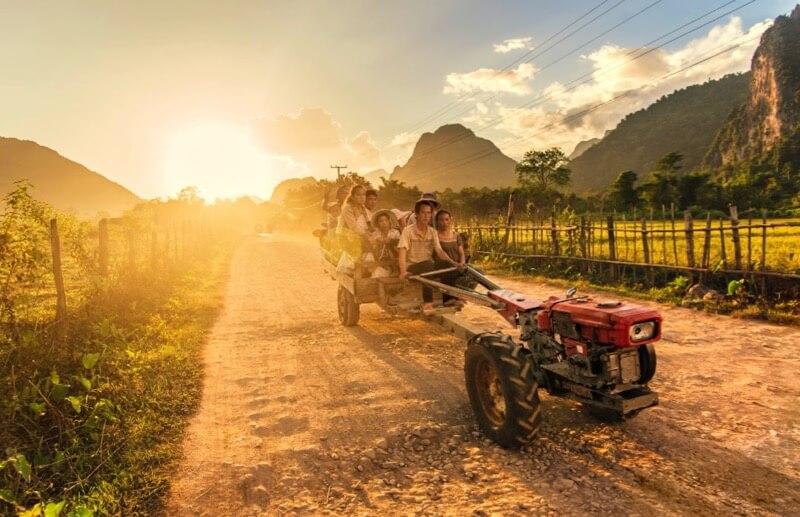 Ahmad Syukaery - Farmers, Vang Vieng, Laos