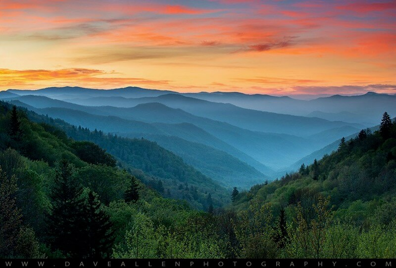 Dave Allen Photography - Smoky Mountains Sunrise