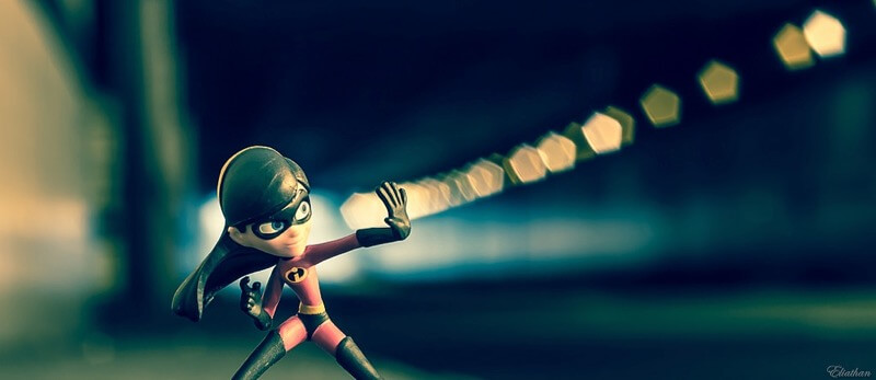 bokeh action figure