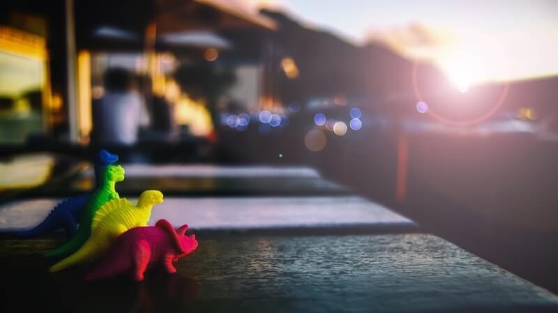 Delyth Angharad Dinosaur Sunset