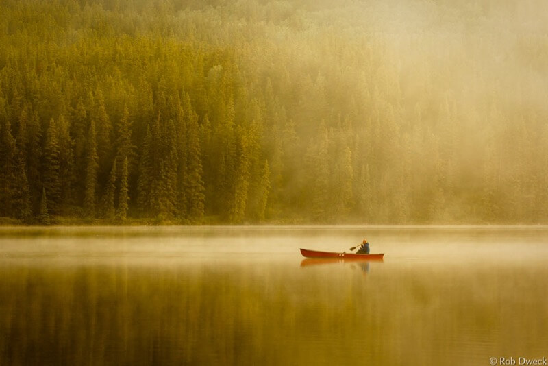 Rob Dweck Canoe on lake