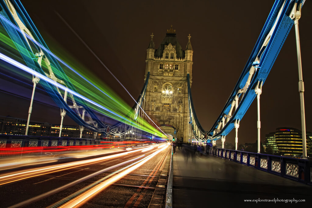Giovanna Tucker - London Tower Bridge Light Trails