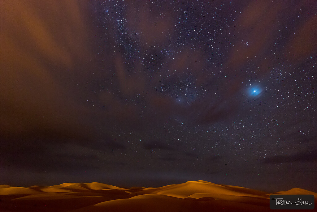Tristan Lebeschu - Stars, Dunes and Clouds in Marzuga Desert