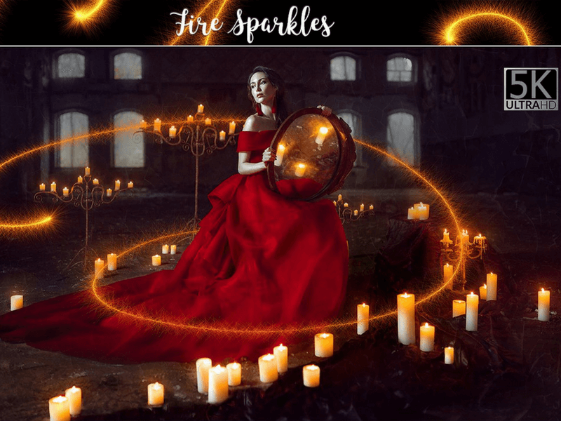 sparkles photo overlay