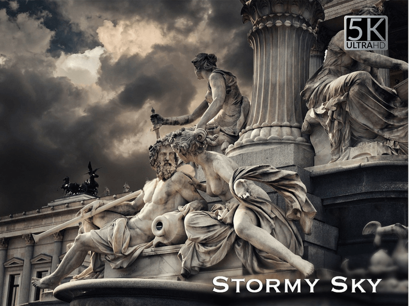 stormy photo overlay
