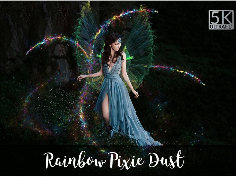 rainbow photo overlay