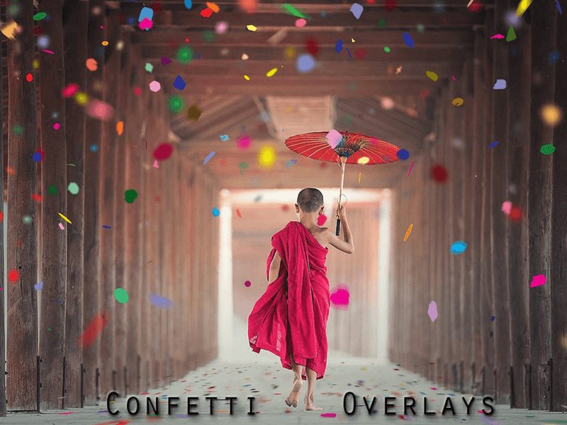 confetti photo overlay