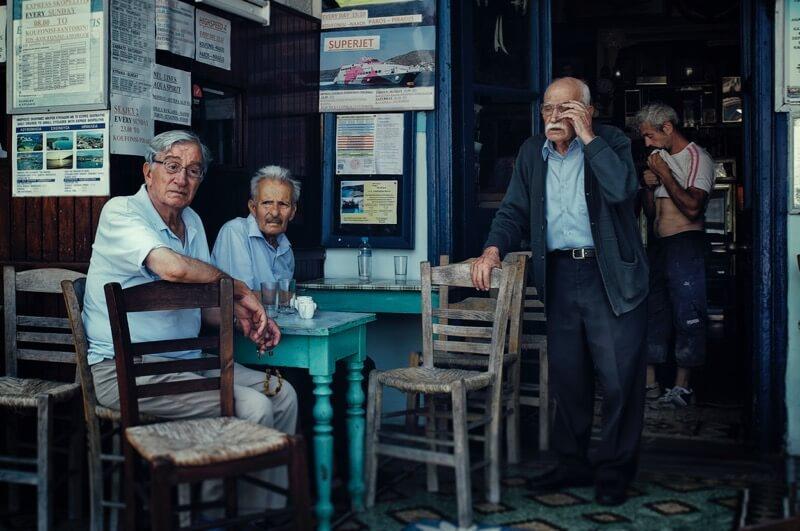 old men socializing
