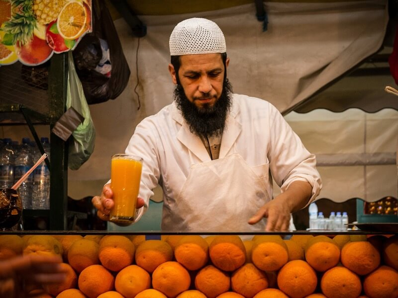 Marrakech - orange juice