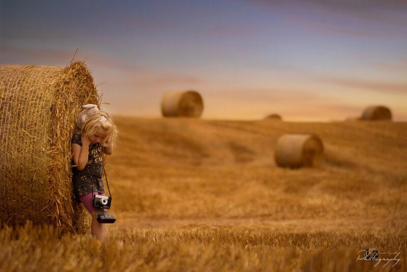 child hay bale