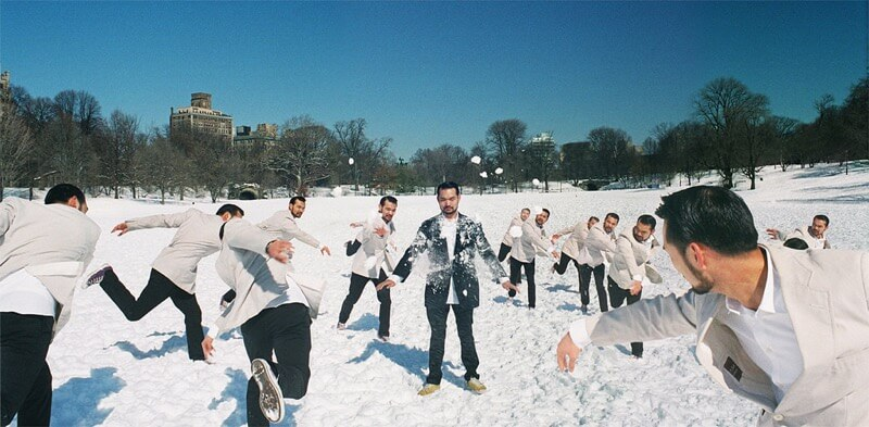 Johnny Tang snowball fight