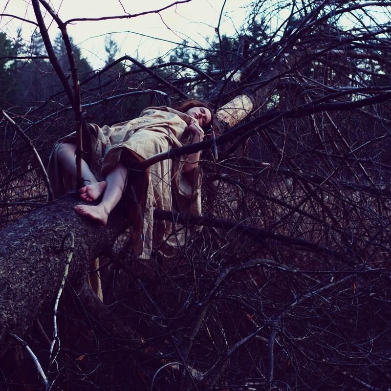 Sarah Ann Loreth girl sleeping in tree