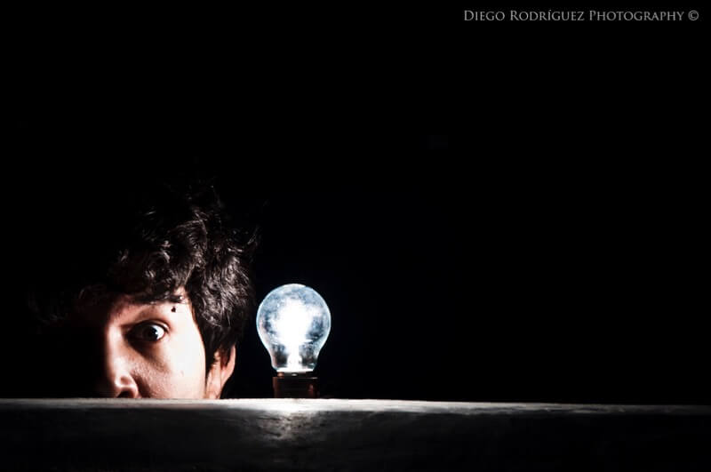 light bulb portrait