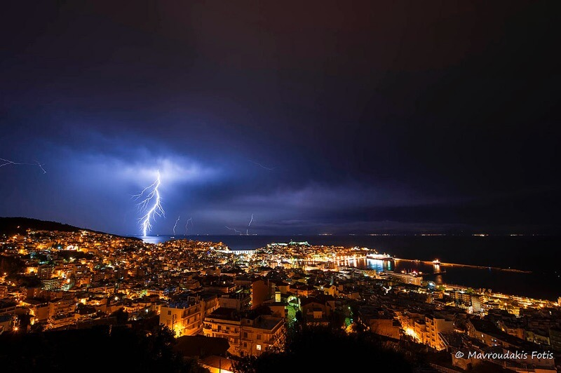 Fotis Mavroudakis - Lightning storm over the city